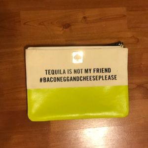 Kade Spade Gia Call To Action Tequila Is... Pouch